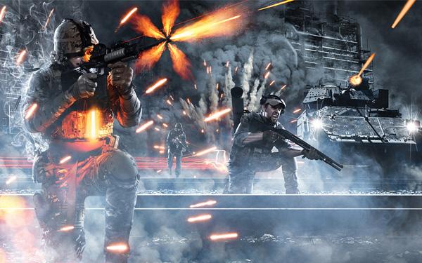 В Battlefield 4 боевые действия будут на суше и на море